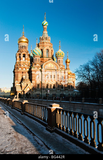 The Church of our Saviour on the spilled blood, Saint Petersburg, Russia - Stock-Bilder