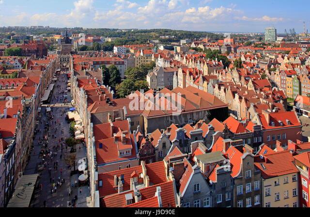 Old Town of Gdansk, Gdansk, Pomerania, Poland, Europe - Stock Image