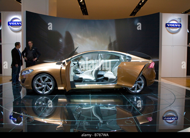 Detroit Michigan The Volvo S60 concept car on display at the North American International Auto Show - Stock Image