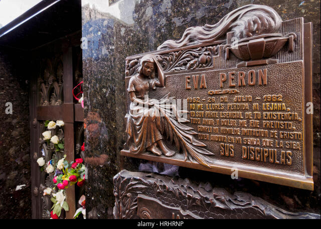 The Eva Peron grave in the Recoleta Cemetery, Buenos Aires, Buenos Aires Province, Argentina - Stock-Bilder