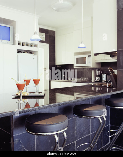 Black units stock photos black units stock images alamy for Different kitchen styles
