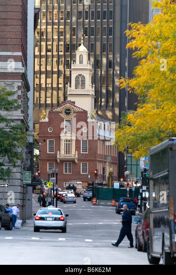 The Old State House in Boston Massachusetts USA - Stock Image