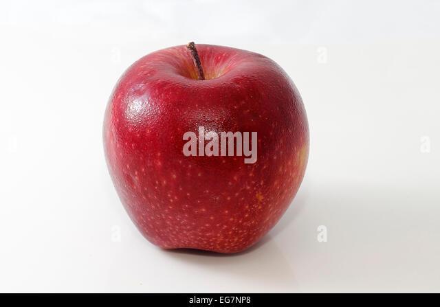 Wet red apple health fruit food tasty - Stock Image