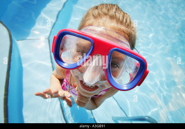 A child with goggles - Stock Image