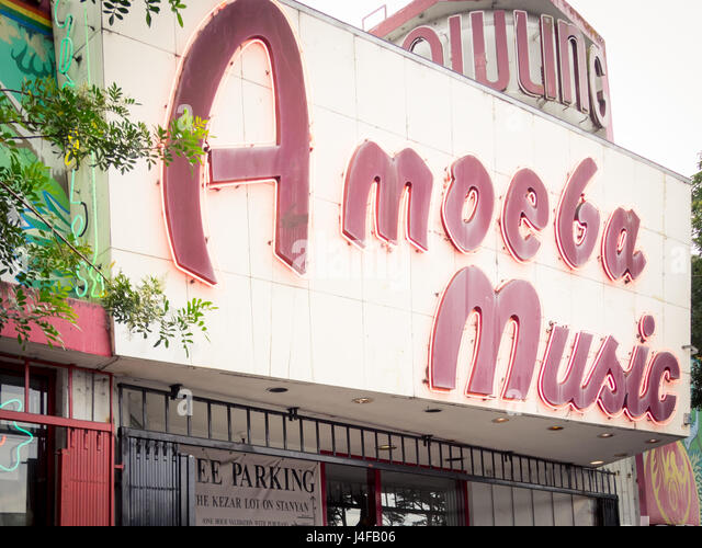 The exterior of the Amoeba Music (Amoeba Records) store on Haight Street in San Francisco, California. - Stock Image