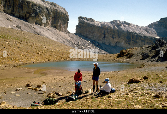 On the Spanish side of the Brèche de Roland, Pyrenees, Spain - Stock Image