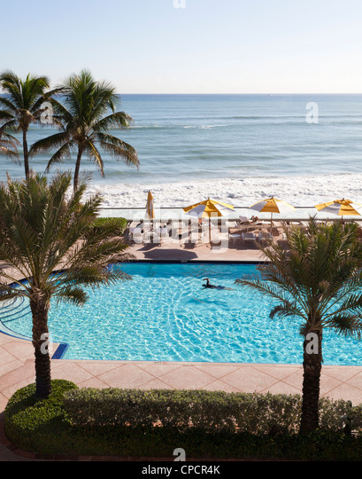The breakers palm beach florida stock photos the - Palm beach swimming pool ...