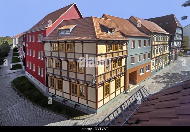 Half-timbered houses - Stock Image