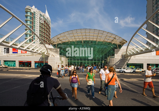 Portugal Lisbon Vasco da Gama shopping center near Expo - Stock Image