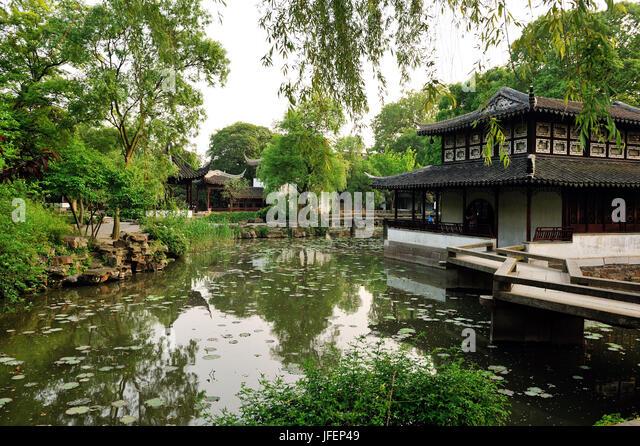 China, Jiangsu province, Suzhou, the Humble Administrator's garden, UNESCO World heritage, - Stock Image