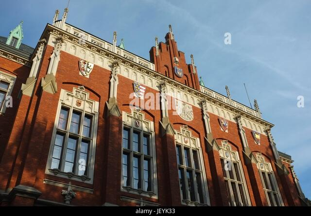 Collegium Novum (New College) of the Jagiellonian University in Old Town, Krakow, Poland, Central/Eastern Europe, - Stock Image