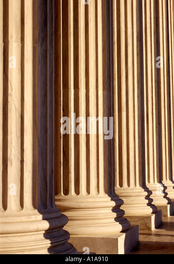 U.S. Supreme Court columns, Washington D.C. - Stock Image