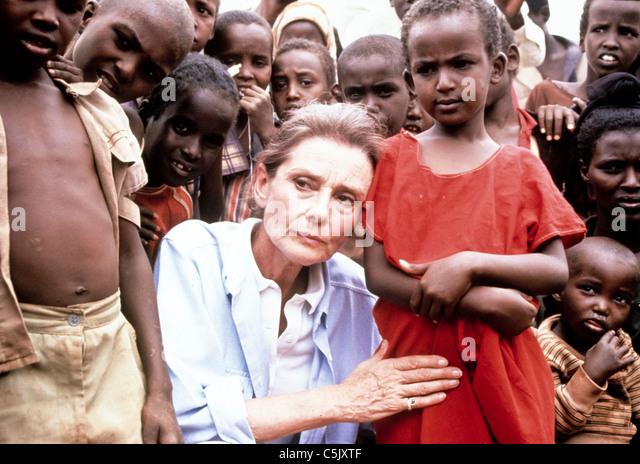audrey hepburn,ambassadress Unicef in Somalia - Stock Image