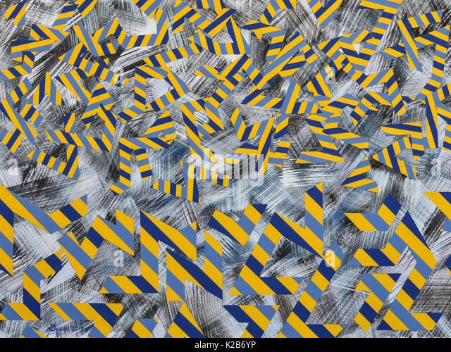 'Vauban Falling Into Place' - abstract artwork by Ed Buziak. - Stock Image