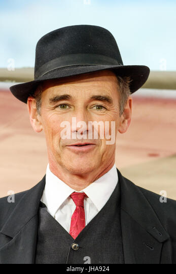 London, UK. 13th July, 2017. Mark Rylance at World Premiere of DUNKIRK on Thursday 13 July 2017 held at ODEON Leicester - Stock Image