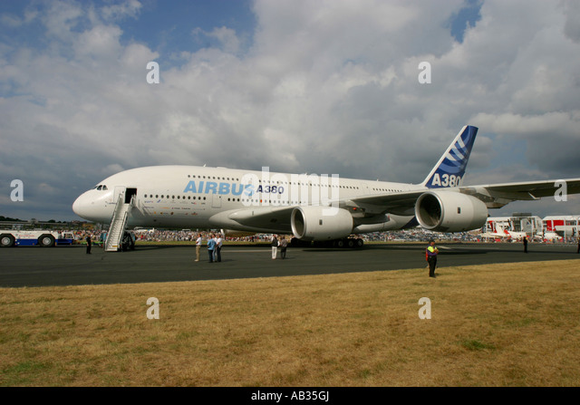 Commercial airliner Airbus A380 - Stock Image