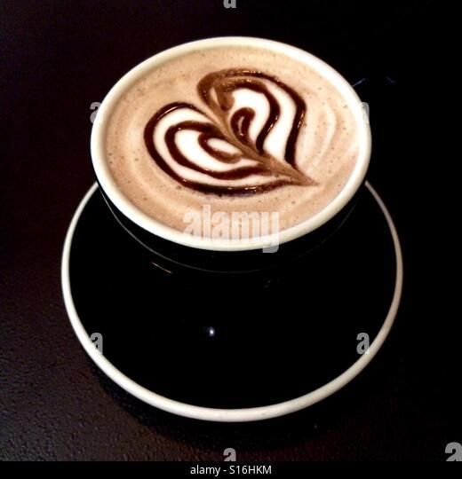 Hot chocolate heart - Stock-Bilder