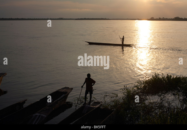 The Congo river at Yangambi, Democratic Republic of Congo, Africa - Stock-Bilder
