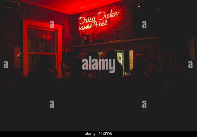Upper Bar at Johnny Ringos in Fortitude Valley, Queensland - Stock Image