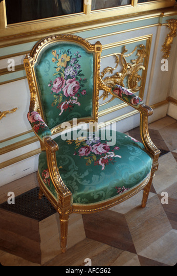 Russia former Soviet Union Peterhoff Petrodvorets Peter the Great Summer Palace Picture Hall antiques - Stock Image