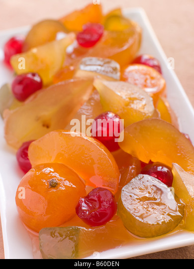 Plate of Mustard Fruits - Stock Image