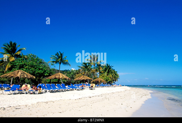 Palomino Island Puerto Rico Caribbean - Stock Image