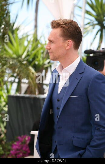 Actor Tom Hiddleston at Only Lovers Left Alive Photocall Cannes Film Festival On Saturday 26th May May 2013 - Stock-Bilder