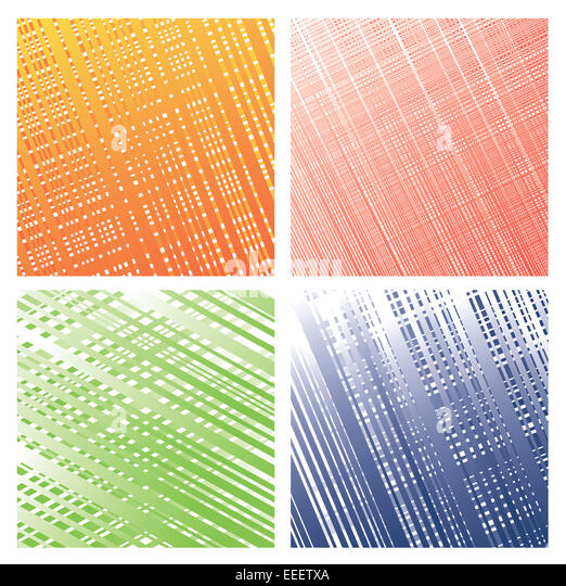 Set from four colourful textures. - Stock Image