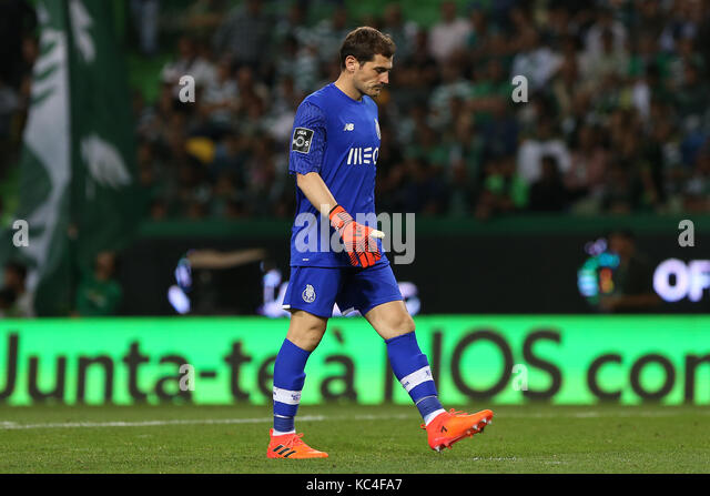 Lisbon, Portugal. 01st Oct, 2017. FC PortoÕs goalkeeper Iker Casillas from Spain during Premier League 2017/18 - Stock Image
