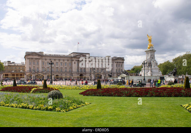 Buckingham Palace Garden Flowers Stock Photos Buckingham
