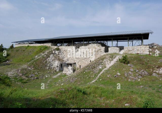 Maasilinna Castle. Outside view.  Orissaare Parish, Saare County, Estonia. 30th August 2017 - Stock Image