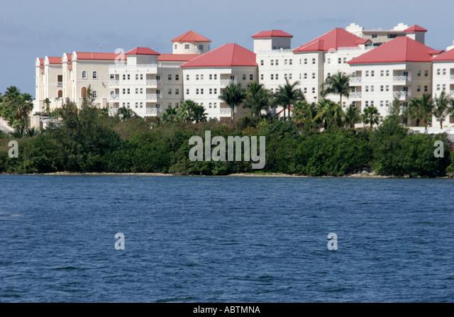 Sint Maarten Dutch Simpson Bay Lagoon American University of the Caribbean Medical School - Stock Image