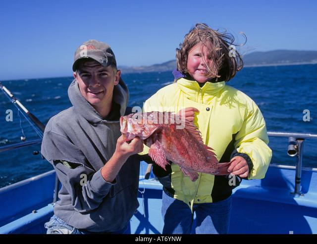 Downtown newport oregon stock photos downtown newport for Newport oregon fishing charters