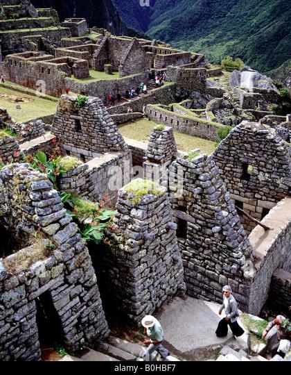 Machu Picchu, ancient Inca town, Incan ruins, UNESCO World Heritage Site, Peru, South America - Stock-Bilder