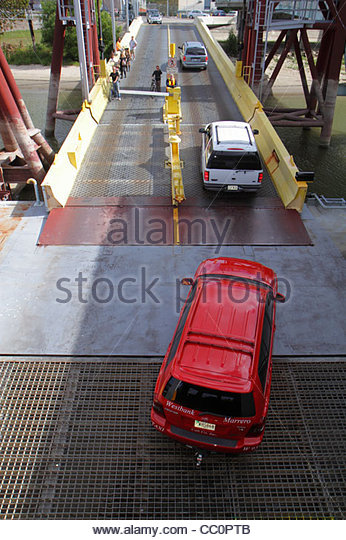 Louisiana New Orleans Mississippi River Algiers Canal Street Ferry Station Crescent City Connection Division CCCD - Stock Image