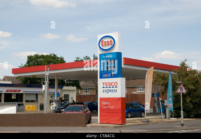 Petrol station stock photos petrol station stock images alamy - Esso garage opening times ...