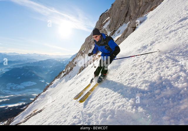 downhill, Rumplkammer, Salzachtal, Pongau, Austria - Stock Image