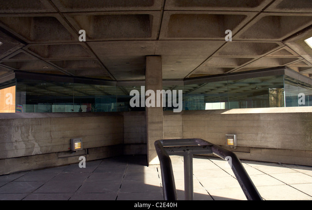 Brutalist Architecture, National Theatre, London, UK - Stock Image