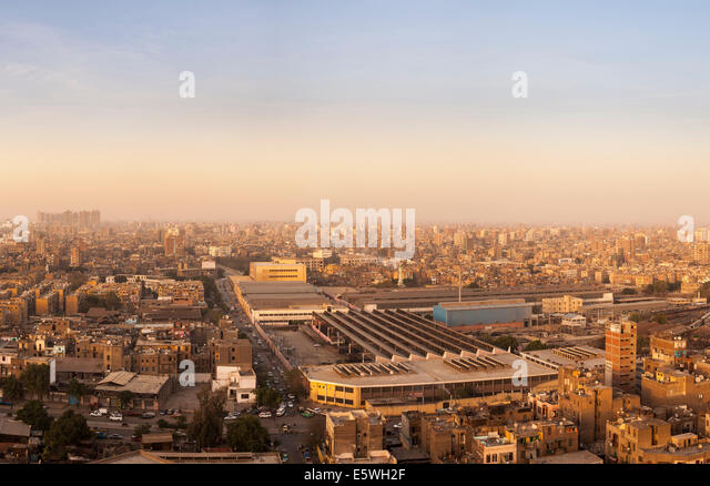 Cairo, Egypt - view across the city - Stock Image