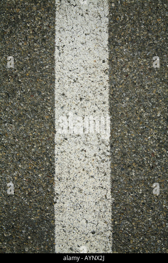 Median strip of a road - Stock Image