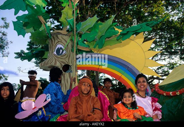 Indien, Goa, Panaji, Karnevalsumzug - Stock-Bilder