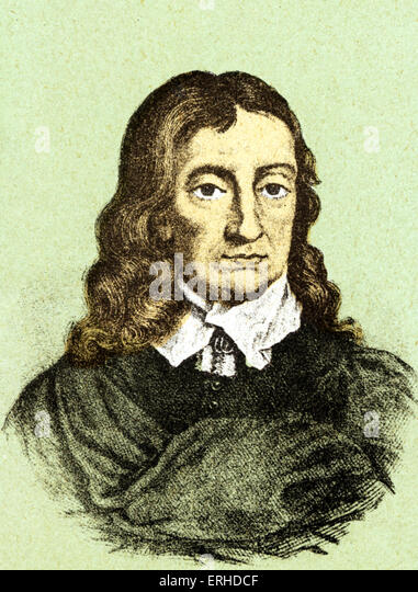 John Milton English poet, 1608-1674. - Stock Image