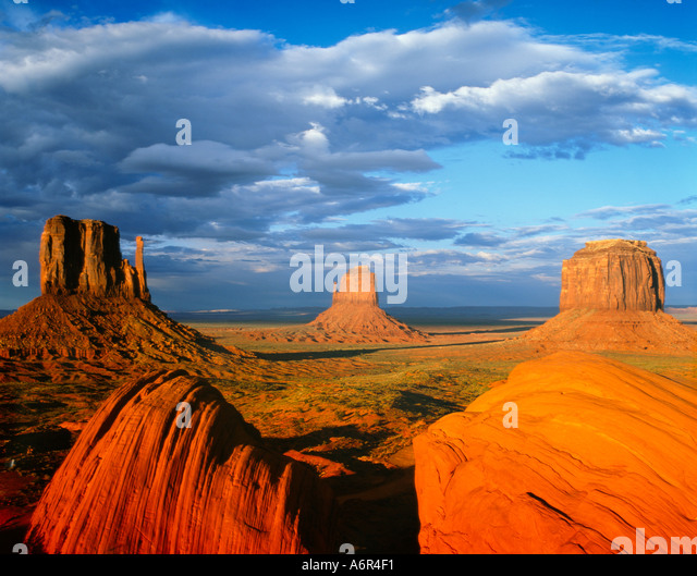 Mitten Buttes Monument Valley Arizona USA - Stock-Bilder