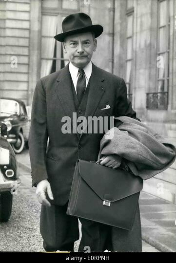Mar. 03, 1960 - New meeting at Elysee of Committee for Algerian Affairs. A new meeting of the Committee for Algerian - Stock Image