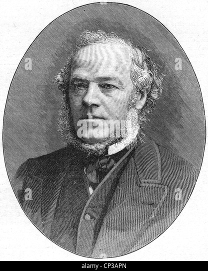 HENRY BRUCE, 1st Baron Abadare (1815-1895) British Liberal politician - Stock Image