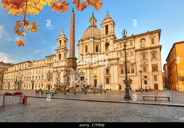 Piazza Navona in Rome - Stock Image
