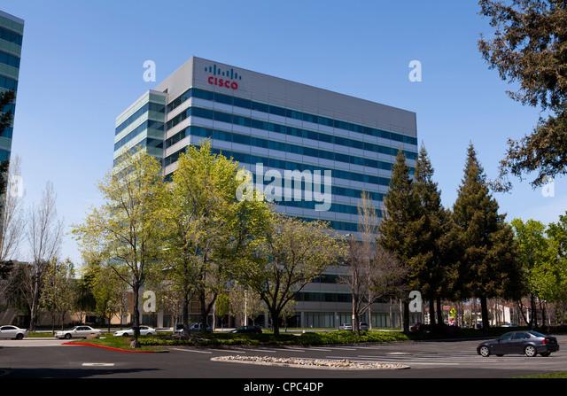 Cisco headquarters building - San Jose, California - Stock Image