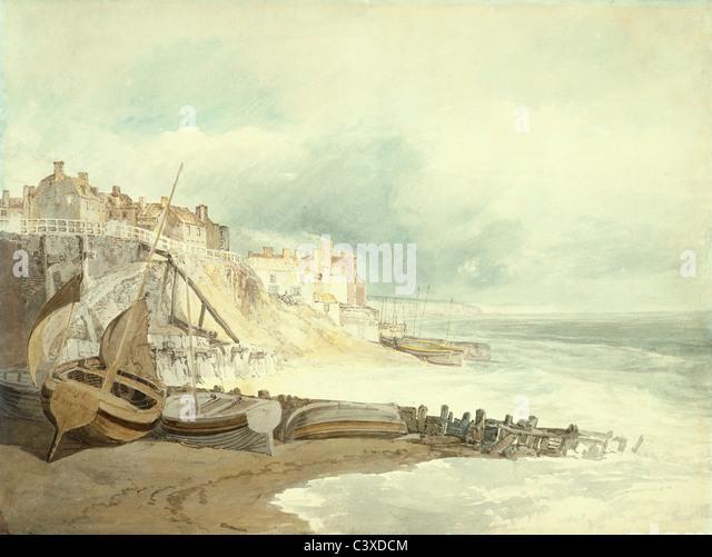 Brighthelmstone, by J.M.W. Turner. Brighton, England, early 19th century - Stock-Bilder