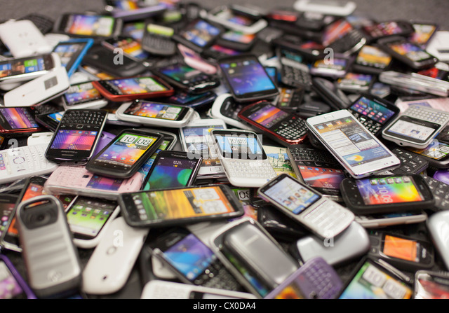 Pile Of Cell Phones : Samsung mobile phones stock photos