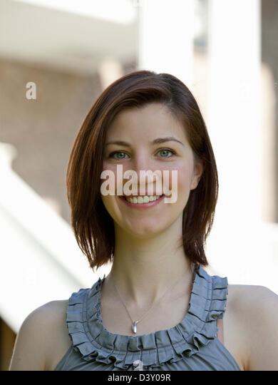 portrait of female teenager - Stock Image